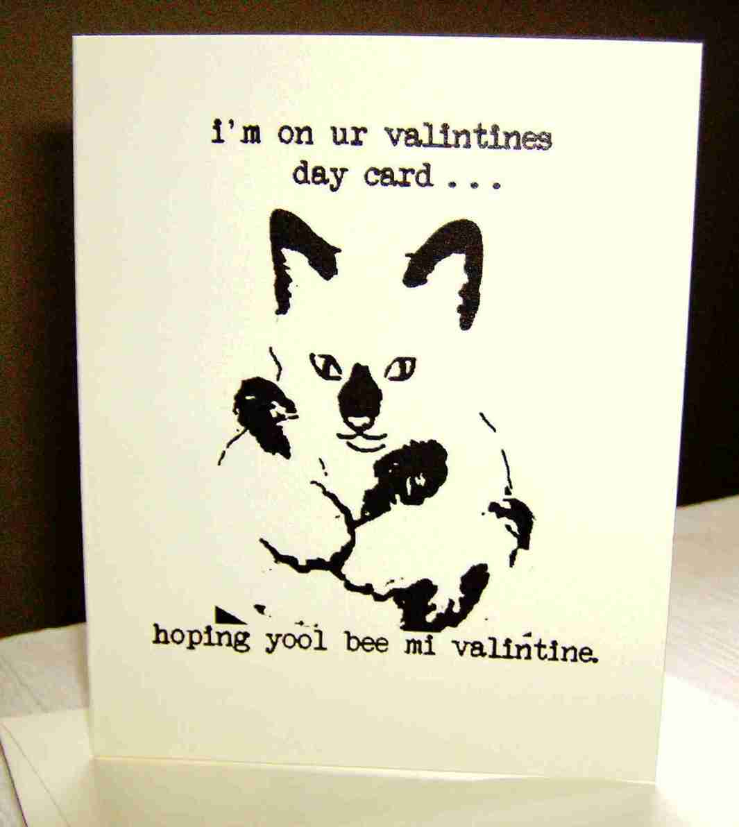 Our in house designed lolcatz valintines card.Yay!
